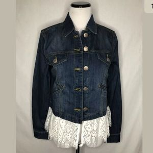 Cabi Dakota Chantilly Lace Hem Style 5297 Jacket